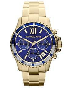 Michael Kors Watch, Women's Chronograph Gold-Tone Stainless Steel Bracelet 42mm MK5754 - All Watches - Jewelry & Watches - Macy's