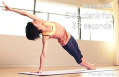 Pinterest fitness plan: do a side plank for 30 seconds right now!