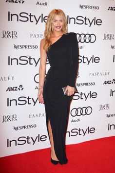 Cheyenne Tozzi in an Alex Perry Dress and Rachael Ruddick and Céline Accessories at the Australian 2014 Instyle Women of Style Awards