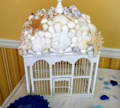 """Gift table Money Holder....makes receiving gifts a bit less awkward.  Rent our """"Shell house""""  in the Savannah/ Hilton Head area."""