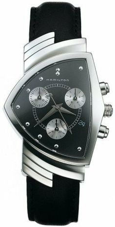 Hamilton Men's H24412732 Ventura Chronograph Watch Hamilton. $627.25. Durable synthetic sapphire crystal. Case diameter: 32 millimeters. Stainless-steel case. Quartz movement. Water-resistant to 165 feet (50 M)