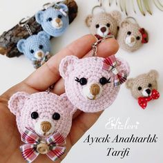 Knitted Teddy Bear, Crochet Teddy, Crochet Patterns Amigurumi, Amigurumi Doll, Knitting Patterns, Crochet Hats, Amigurumi For Beginners, Diy Crafts To Do, Crochet Keychain