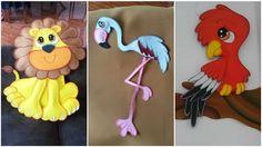 Creatividad Ideas: Figuras de Tiernos Animalitos Elaborados con Goma Eva