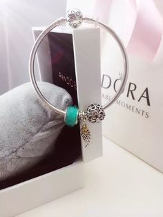 50% OFF!!! $119 Pandora Bangle Charm Bracelet Green. Hot Sale!!! SKU: CB01674 - PANDORA Bracelet Ideas