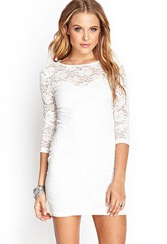 Floral Lace Sheath Dress | FOREVER21 - 2000103482
