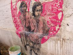 Linoleum block prints and cut paper, still transparent from pasting. Juarez Mexico, 2013 Caledonia Curry / Swoon