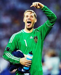 Manuel Neuer is pretty much the best goalkeeper in the world right now, and the most adorable in my book.