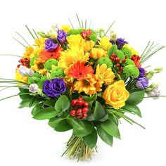 Invite the sunshine into your home with a radiant bouquet made of sunny yellow roses, green and yellow chrysanthemums Daffodil Flower, Hibiscus Flowers, Exotic Flowers, Fall Flowers, Amazing Flowers, Cactus Flower, Flowers Garden, Flower Delivery Service, Same Day Flower Delivery