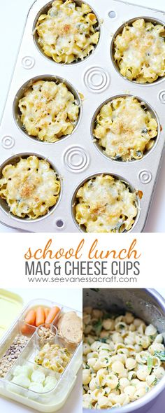 Spinach and Kale Mac and Cheese Cups - Back to School Lunch Idea for Kids @sprouts @btfe #SproutsBoxTops #ad