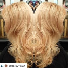 Love this honey blonde hair color by Scott! #rcollectiveslon