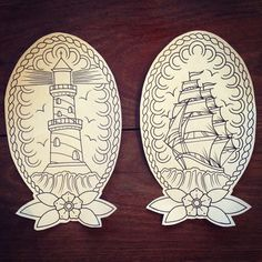 Tattoo traditional lighthouse ships Ideas for 2019 Traditional Lighthouse Tattoo, Traditional Ship Tattoo, Traditional Sleeve, Traditional Tattoo Stencils, American Traditional Tattoos, Tattoo Sketches, Tattoo Drawings, Body Art Tattoos, Sleeve Tattoos