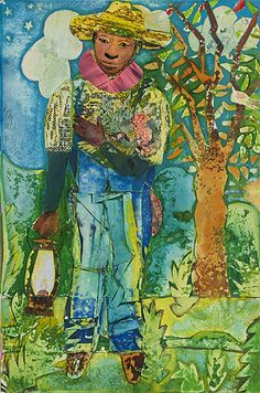 Home from the Deep Bayou-Outside New Orleans  Romare Bearden   c.1970