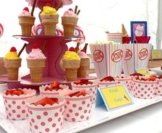 Ice Cream Party Birthday Party Ideas | Photo 2 of 15 | Catch My Party