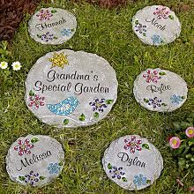 Mom's Mosaic Garden Stepping Stone-love this idea for stepping stones!