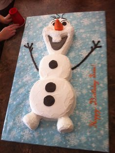 Best Image of Olaf Birthday Cakes . Olaf Birthday Cakes Ill Be A Happy Snowman Olaf Cake Birthday Ideas In 2018 Olaf Birthday Party, Frozen Birthday Cake, Themed Birthday Cakes, Birthday Ideas, Olaf Party, Carnival Birthday, Frozen Party, 4th Birthday, Birthday Parties