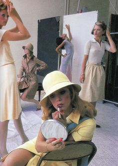 Halston in a 1972 photo shoot for Vogue magazine