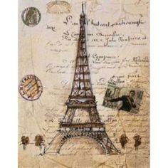 Posterazzi La Tour Eiffel Canvas Art - Liz Jardine (22 x 28)