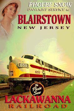 Phoebe Snow - Lackawanna Railroad Blairstown, New Jersey Railroad through the Appalachian