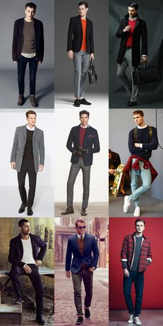 Men's Crew Neck Jumper Lookbook Outfit Inspiration