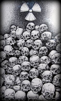 Pile of Skulls drawing by Eric Rignall