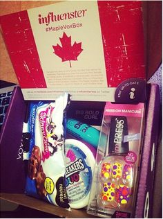 My #MapleVoxBox I just received complimentary of #influenster ! I'm so excited to try these products out! Ask me for an invite if you want to join too! xx