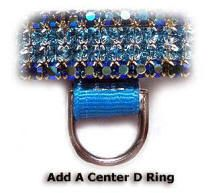 center ring attachment for dog collars and harnesses.