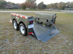hydraulic ground load 6 x 12 tandem axle trailer HD great for scissor lifts hgl trailer Best Trailers, Equipment Trailers, Covered Wagon, Tandem, Used Cars, Cars For Sale, Cars For Sell, Tandem Bikes