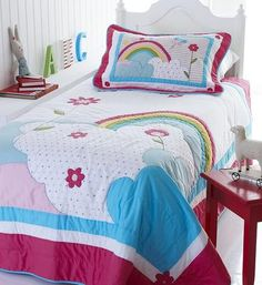 SR Linen Rainbow Quilted Bedspread