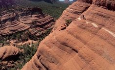 Crazy Biker Attempts To Ride At Sedona's Red Rock Cliffs (5 Photos)