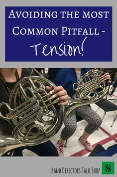 The most common problem that band teachers see when working with brass players is tension. Learn how to address this common brass-playing problem in this great article! Teaching Music, Teaching Tools, Brass Instrument, Band Director, French Horn, Most Common, Trombone, Piano Music, Music Education