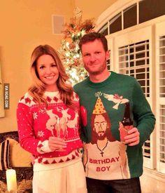Birthday boy and happy reindeer!