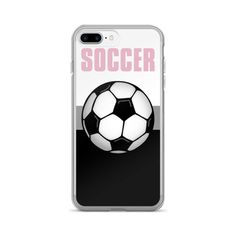 Pink Athletic Sports Soccer Ball iPhone 7/7 Plus Case