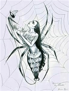 "In Greco-Roman mythology, Arachne was a mortal woman and talented weaver who challenged Athena, goddess of wisdom and crafts, and was transformed into a spider. Spiders are called ""arachnids""."