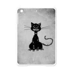 Grunge Textured Evil Black Cat iPad Mini Case $29.50 #ipadmini #case #cafepress #halloween