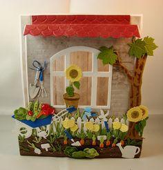 """Hallo ihr Lieben,  es stand schon lange auf meiner """"to do Liste"""" mit den wunderschönen Fenster und den neuen Stanzen für den Garten einen Bl..."""