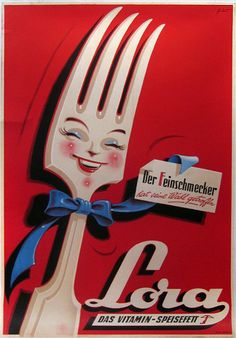fork face - 1950s lora ad