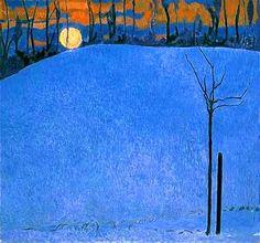 Cuno Amiet, Sunset, 1950.