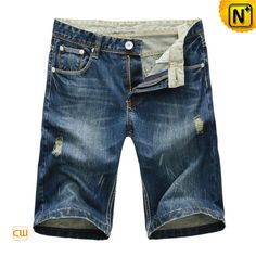 Men's Straight Fit Denim Jean Shorts CW100110 $69.89 - www.cwmalls.com Casual summer menswear straight fit denim jean shorts are made from 100% cotton that is comfortable to wear and washes, trendsetting jean shorts for men offer cool and casual summer style!