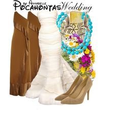 Pocahontas - Wedding by annabelle-95 on Polyvore featuring Donna Karan, House of Harlow 1960, Devon Leigh and Theo Fennell