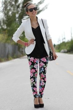 floral and blazer