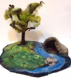 Workshop: Felting Freescapes, an Original Storyteller Fantasy Playscape mini version