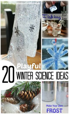 20 Playful Winter Science activities and Winter science experiments for Kids. Try funned simple Winter themed activities for early learning for preschool and kindergarten science. Great Winter STEM for young kids. Winter Activities For Kids, Science Activities For Kids, Science Experiments Kids, Stem Activities, Science Ideas, Childcare Activities, Science Lessons, Preschool Science, Science For Kids