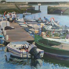Faro. óleo sobre lienzo 100x100 cms