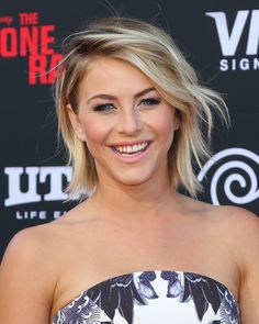 Julianne Hough has been able to create looks varying from stick-straight to intricate updos, further proving the lob's versatility.