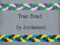 New True Braid Bracelet - Monster Tail or Rainbow Loom - Crossing Fishtail - YouTube