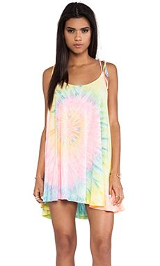 UNIF Pusher Dress in Tie Dye would make a great swim suit cover up