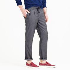 Wallace & Barnes drawstring suit pant in grey Italian wool : wallace & barnes | J.Crew