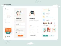 Courses Dashboard by Afterglow on Dribbble Dashboard Ui, Dashboard Design, Ui Design, Graphic Design, Adaptive Design, User Flow, Grammar Book, Website Services, Email Client