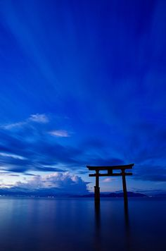 Blue morning - Lake Biwa in Shiga, Japan