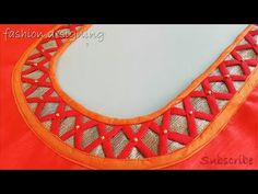 Lets learn how to stitch a very simple back design of a blouse. You all can try stitching the back blouse design by watching this video simultaneously. Chudidhar Neck Designs, Neck Designs For Suits, Dress Neck Designs, Hand Designs, Sleeve Designs, Patch Work Blouse Designs, Simple Blouse Designs, Saree Blouse Neck Designs, Kurta Neck Design